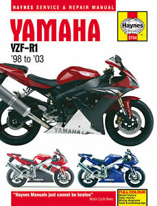 Haynes-Manual-3754-Yamaha-YZF-R1-98-03-workshop-service-repair