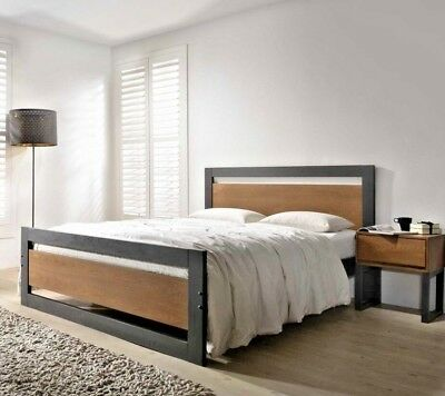 the best attitude 46a5a a1699 LAVISH NEW OLIVIA MODERN DARK GREY FINISH WOODEN BED FRAME IN 4FT/4FT6 &  5FT | eBay