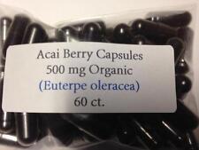 Acai Berry Freeze Dried Organic Vegan Capsules 60ct. 100% Pure Acai Berry Powder