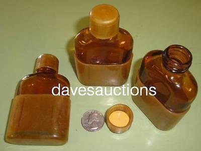 3 WW2 US Military Flask & Cup Medics Medical First Aid Kit Ammonia 1942 Original
