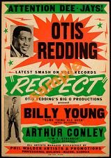 Otis Redding Repro Vintage Concert Poster Print -Soul, Northern,R&B