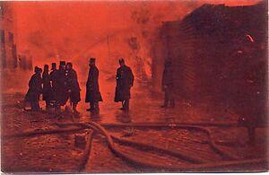 Feuerwehr-Niederlaendische-Karte-mit-rueckseitiger-Propaganda-um-1910