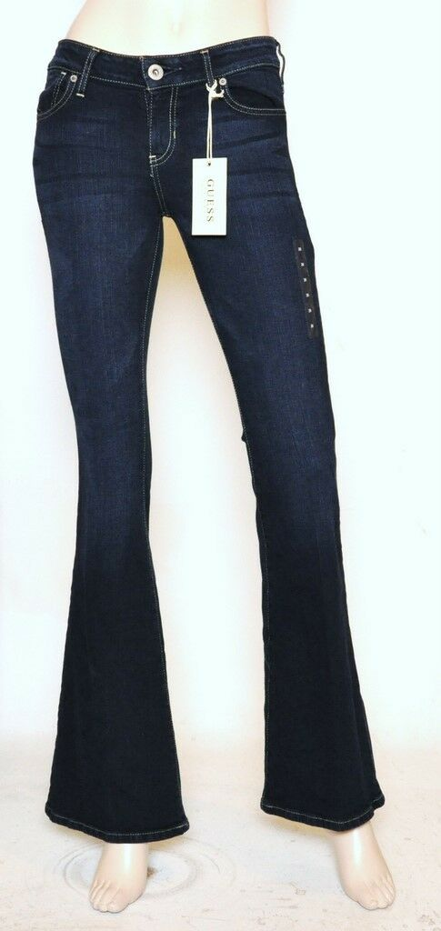 Nwt GUESS Flare Leg Slim Fit Mid Rise Stretch Jeans Pants Scavenger Wash 27