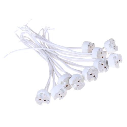 1//5//10pcs MR16 GU5.3 base socket wire connector led lamp ceramic holder SL