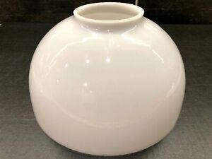 Vtg-White-Milk-Glass-Dome-Shade-Globe-9-3-4-034-Bottom-Diameter-3-5-8-034-Fitter-OD