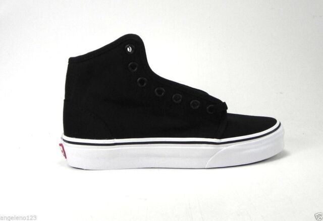 VANS 106 Hi Black True White Canvas SNEAKERS Boys 3.5m Men Women 5m ... 835419f53