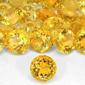 Natural Citrine 6mm Round Faceted Loose Calibrated Size Gemstone Wholesale Lot