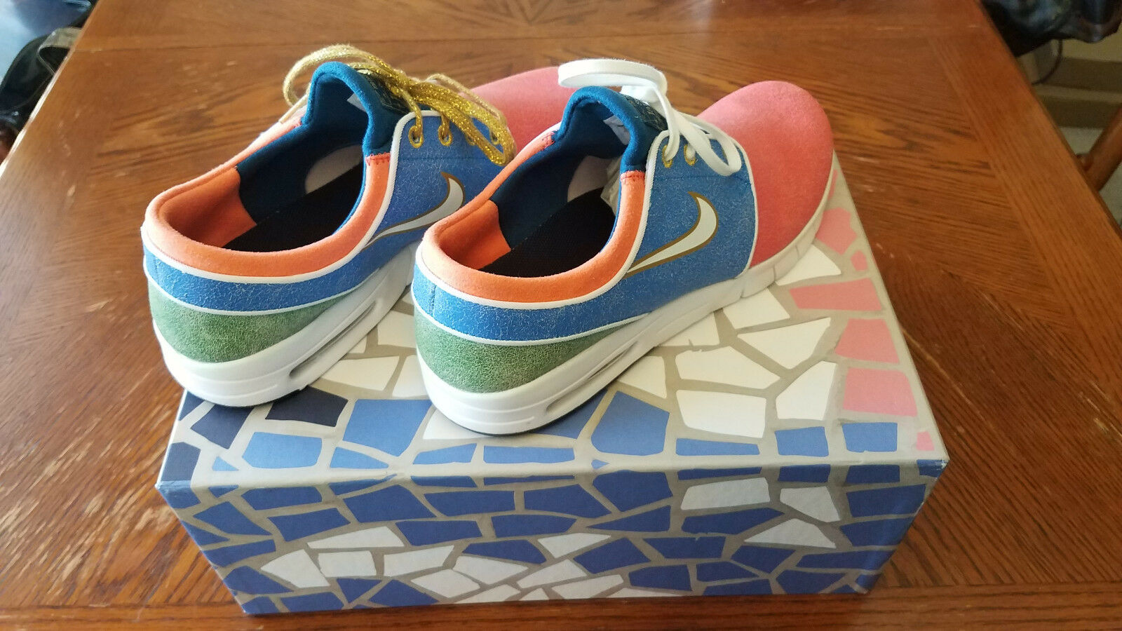 Nike SB Janoski Max Concepts Mosaic Holy Grail Stained Glass Sz 11 749678-614