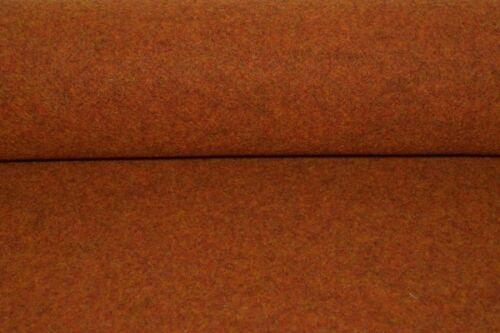 Wollfilz orange meliert Filz Meterware orangefarbener Filz Tweed 997