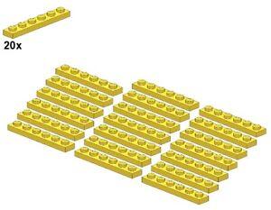 Used-LEGO-Plates-Yellow-3666-03-1x6-20Stk-Platte-Gelb