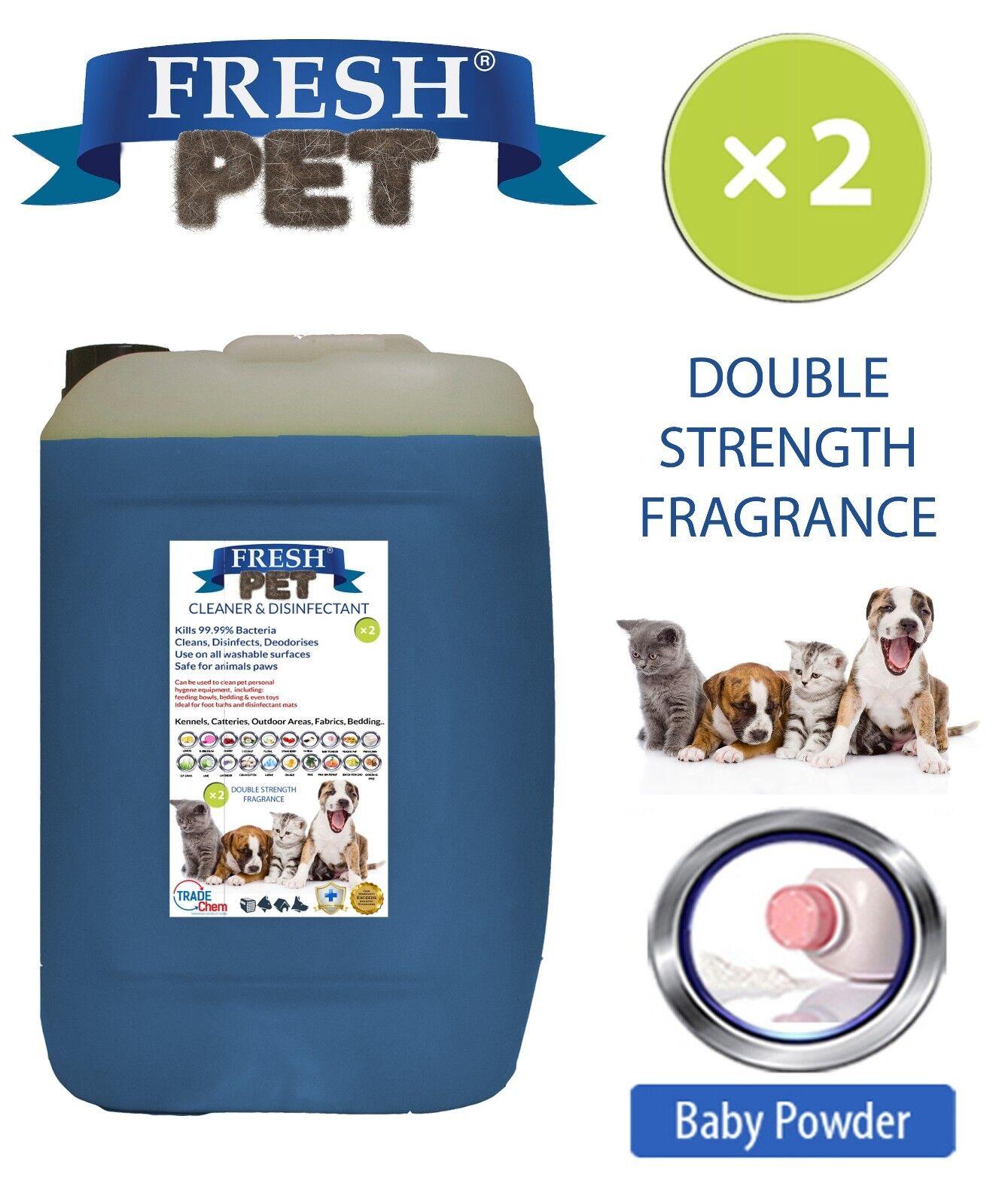 Fresh Pet Hundehütte Hund Desinfektionsmittel Doppelt Stark Duft 20L Babypuder