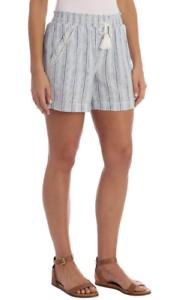 Briggs Womens Linen Blend PullOn Shorts Pockets & Drawstring Pic Sz & Co 1372191
