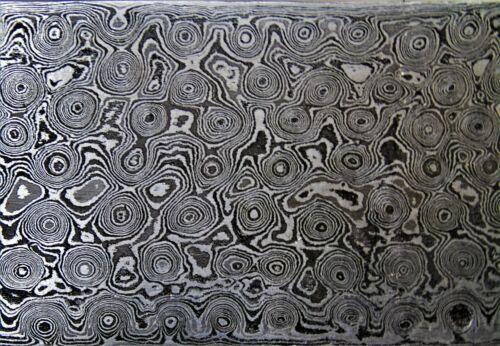 Damassé plaque Damas Acier Damascus billet nouvelle torsion Motif .951 #2