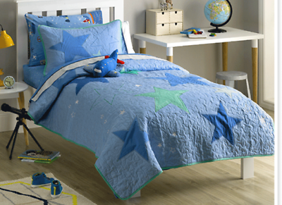 Home & Garden Rrp $309.90 Diversified Latest Designs Quilts, Bedspreads & Coverlets Freckles Stars Quilted Coverlet Set For Single & King Single Bnip