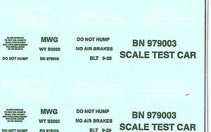 NEU-BN-Scale-Test-Car-979003-Decal-Set-Burlington-Northern