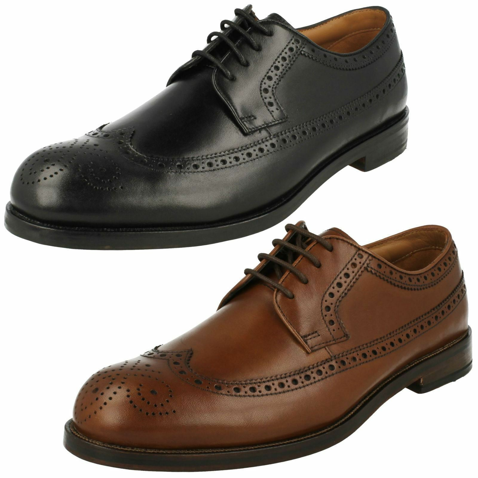 Mens Clarks Coling Limit Smart Leather Lace Up shoes G Fitting