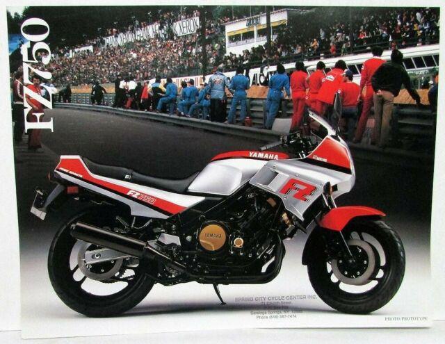Yamaha Rd350 Motorcycle Sales Brochure 1985 For Sale Online Ebay