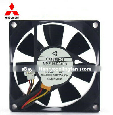 Mitsubishi MMF-08D24ES-RP1 24V 0.16A 8025 three-wire inverter cooling fan