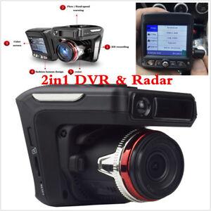 New 2.4/'/' HD 1080P Car Video Camera Recorder Dash Cam Radar Speed Detector DVR