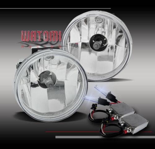 99-01 DODGE RAM 1500//02 2500 3500 SPORT PKG BUMPER FOG LIGHT CHROME W//50W 8K HID