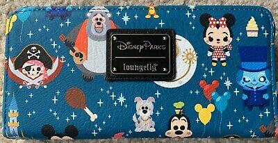 Disney Parks Magic Kingdom Attractions Wallet by Loungefly New With Tags