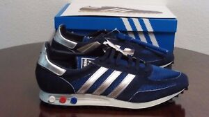 huge selection of 0fb64 328f6 Image is loading BRAND-NEW-ADIDAS-80s-L-A-TRAINER-OG-Navy-