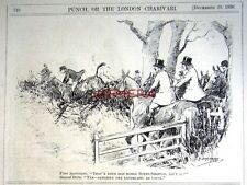 1926 'G D Armour' Punch Cartoon Print - Fox Hunting Theme