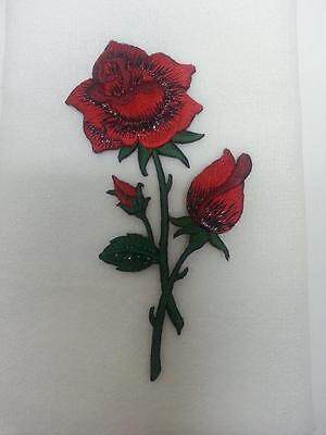 Valentine rose flower fingertip hand bath TOWEL FREE SHIP white red applique mom
