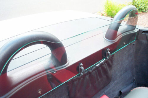 Edelstahl- Chrombügel  Car Glas Windschott SLK 170 TÜV Echtglas