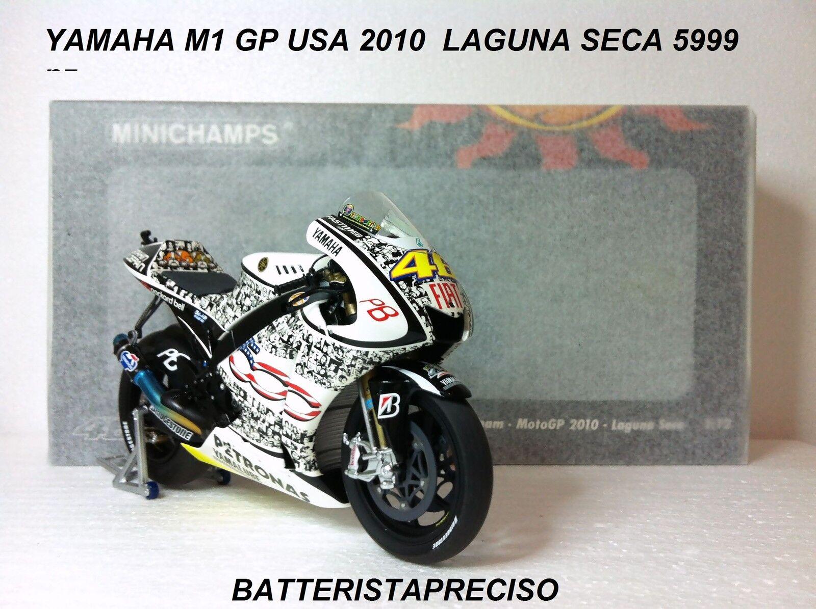 MINICHAMPS VALENTINO ROSSI 1 12 YAMAHA 2010 GP USA LAGUNA SECA L.E. 5999 pcs