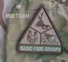 BASIC FOOD GROUPS MULTICAM TACTICAL COMBAT BADGE MORALE MILITARY PATCH