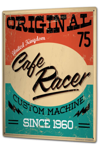 Tin Sign XXL Retro Cafe Racer metal plate plaque