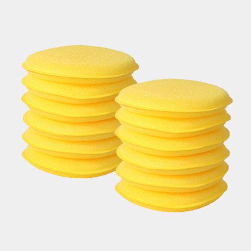 cera de carnauba 24 x Almohadillas de Espuma Redonda aplicador de esponja para pulir PTFE
