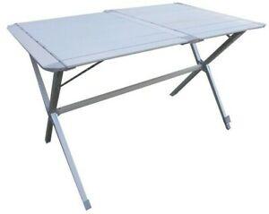 Dettagli su Il tavolo in alluminio campeggio 110x70 cm piano unito Articolo  camping tavoli