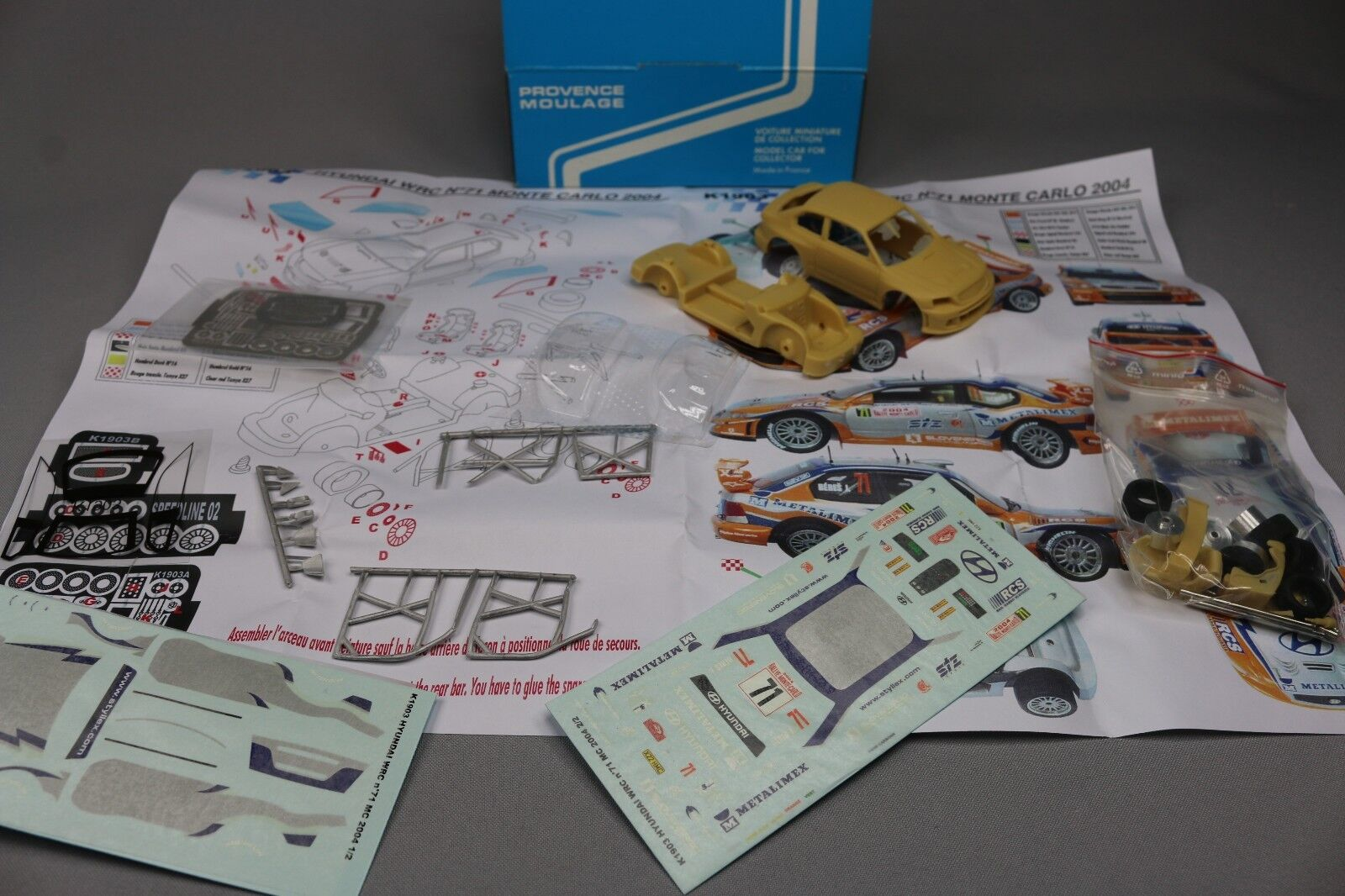 ZC569 Provence Moulage K1903 Kit Vehicule 1 43 Hyundai WRC N°71 Monte Cochelo 2004