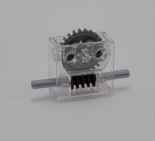 Lego Technic Getriebe Box 6588 transparent mit Zahnrad und Schnecke