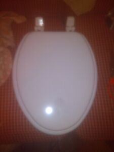 Strange Details About Church 1400Ttc 000 Elongated Wood Toilet Seat With Cover White Creativecarmelina Interior Chair Design Creativecarmelinacom