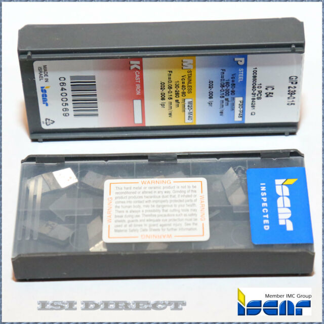Iscar GIF 4.45-0.15 Carbide Inserts Factory Pack of 10 IC825 Machinist CNC Steel