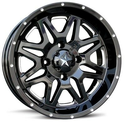 "0mm Black//Milled Wheel Rim 16/"" Inch MSA M26 Vibe 16x7 4x137"