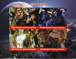 GéNéReuse Madagascar 2018 Neuf Sans Charnière Star Wars Han Solo Chewbacca 4 V Impf M/s Films Film Timbres