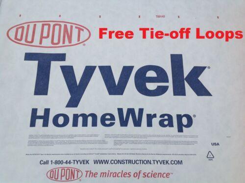 LOOPS 10/' X 6/' Tyvek Homewrap Tarp Tent Footprint Ground Sheet Cloth Cover Kite