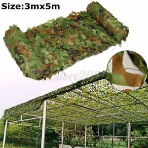 Woodland Leaves Camouflage Camo Net Netting Camping Military Hunting 10ftx16ft