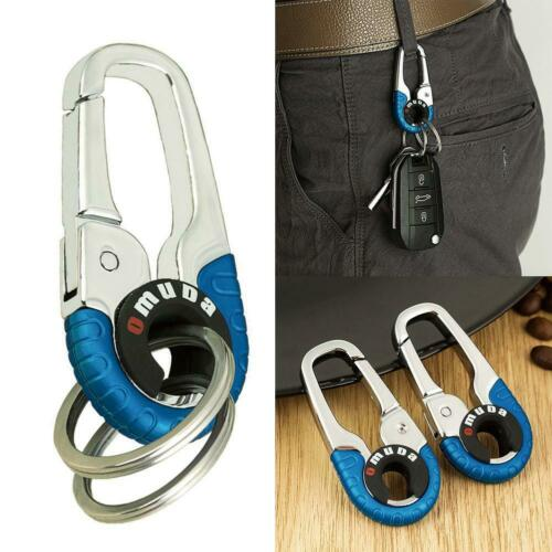 Keychain Key Ring Hook Outdoor Stainless Steel Buckle Carabiner Climbing 2Colors