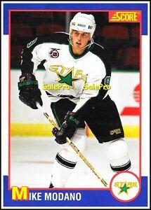 SCORE-KELLOGG-039-S-CEREAL-1991-MIKE-MODANO-NHL-DALLAS-STARS-RARE-ODDBALL-CARD-4