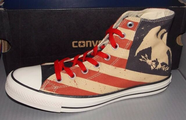 Converse All Star Ct Hi Top Shoes American Flag Mens 8 Womens 10 USA 144677f dbd77e635