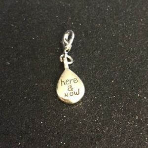 Brighton-HERE-amp-NOW-Eternity-Silver-Lobster-Clasp-Saying-Charm