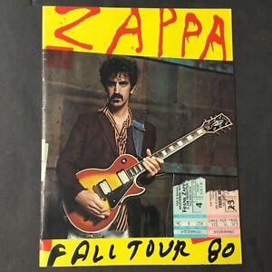 Frank Zappa Fall Tour 80 Program Amp 2 Ticket Stubs Kiel