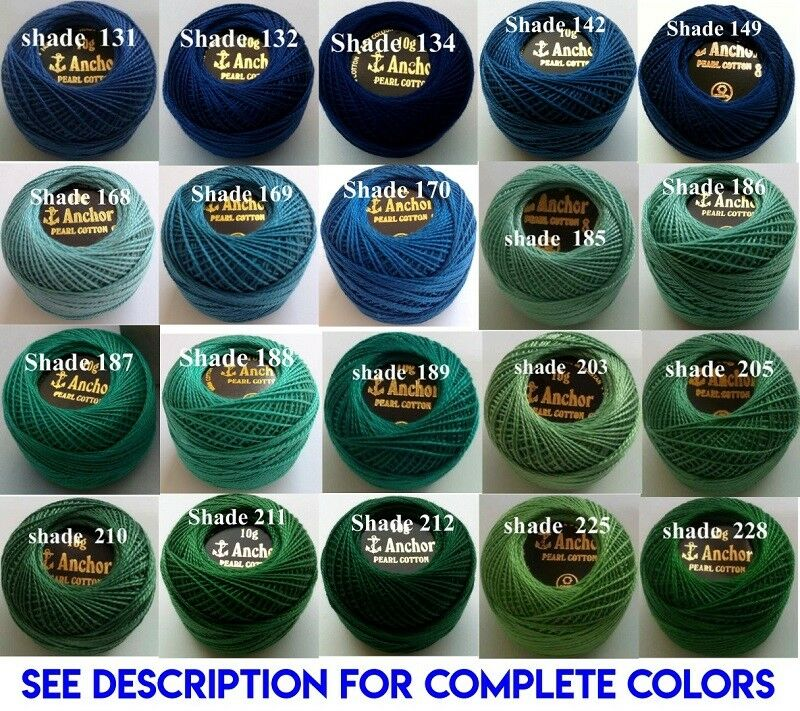 ANCHOR Pearl Cotton Crochet Embroidery Thread Balls Choose Qty /& Colours 220+