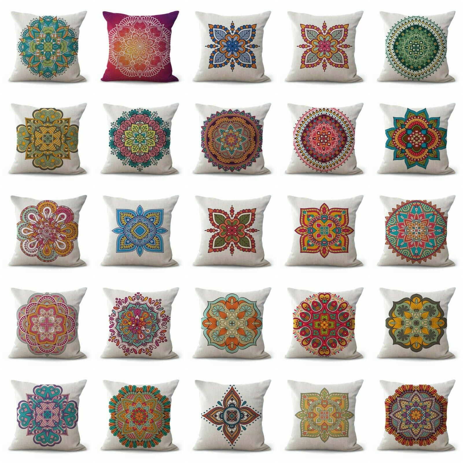 US SELLER- set of 20 pillow couch perfection eternity mandala cushion covers