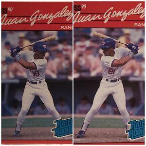 1990-Donruss-REVERSE-NEGATIVE-ERROR-amp-ROOKIE-CARD-COMBO-Juan-Gonzalez-33